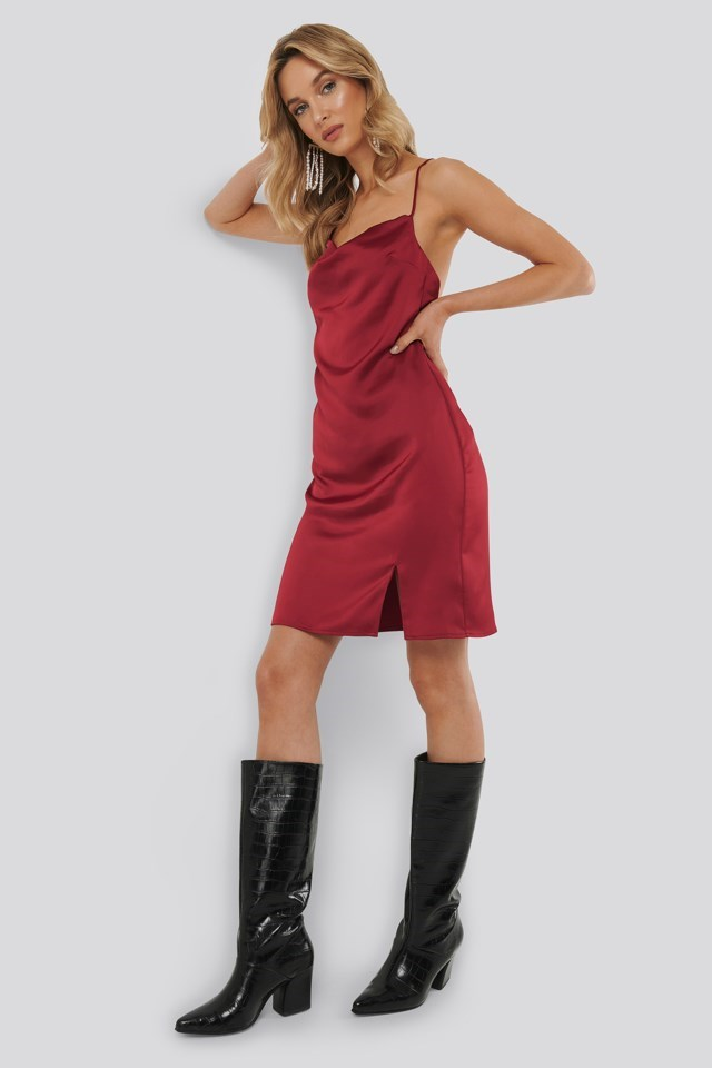 Waterfall Slip Dress Outfit