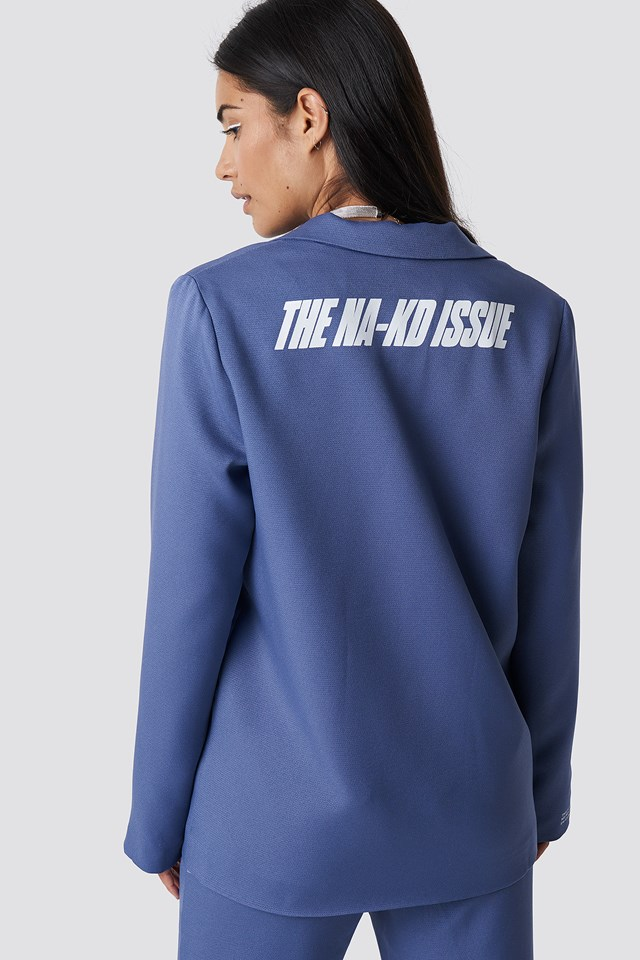 The Classy Blazer Blue