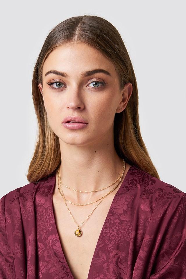 Layered Stone Necklace Tranloev