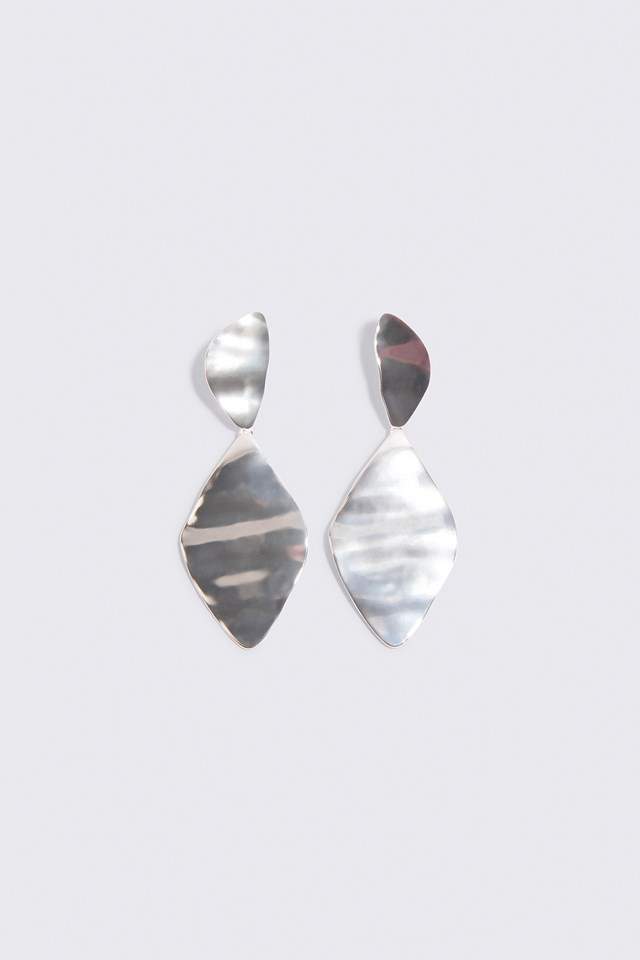 Melted Romb Earring Silver