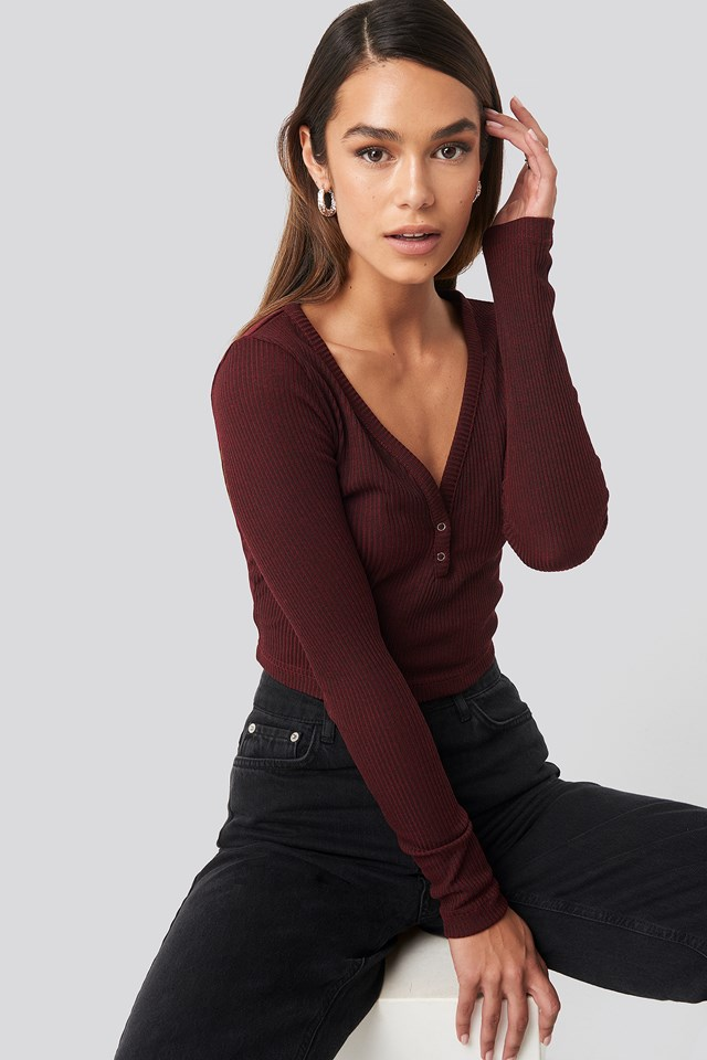 Button Detailed Knit Top Trendyol