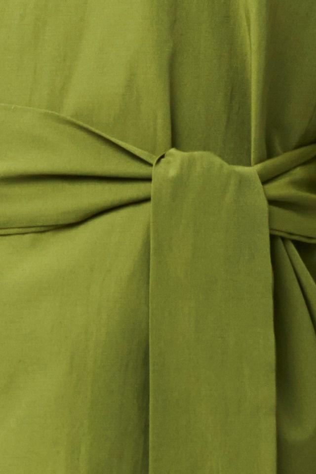 Binding Detailed Blouse Green