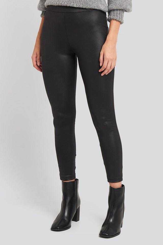 Black PU Leggings Black