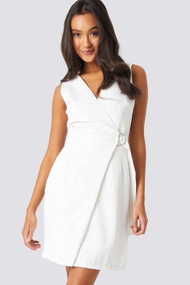 Buckle Detailed Dress Ecru