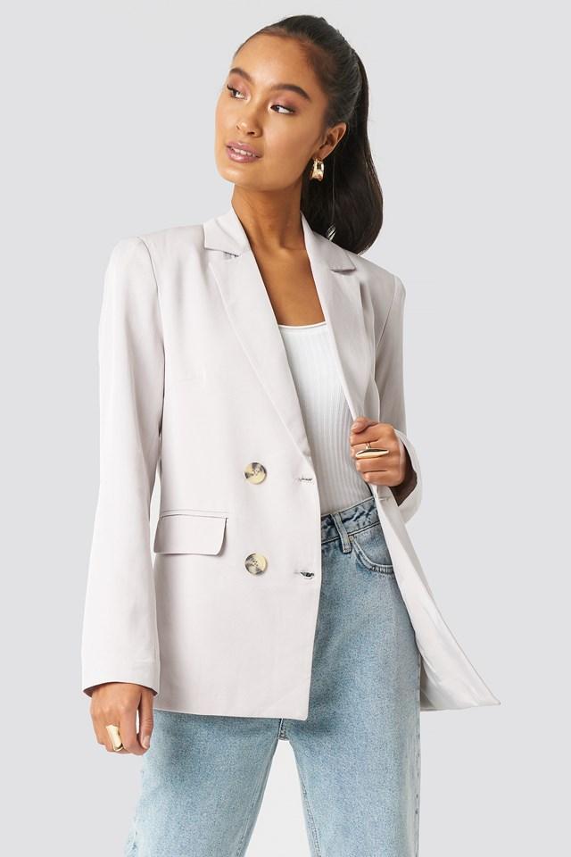 Button Detailed Blazer Jacket Trendyol