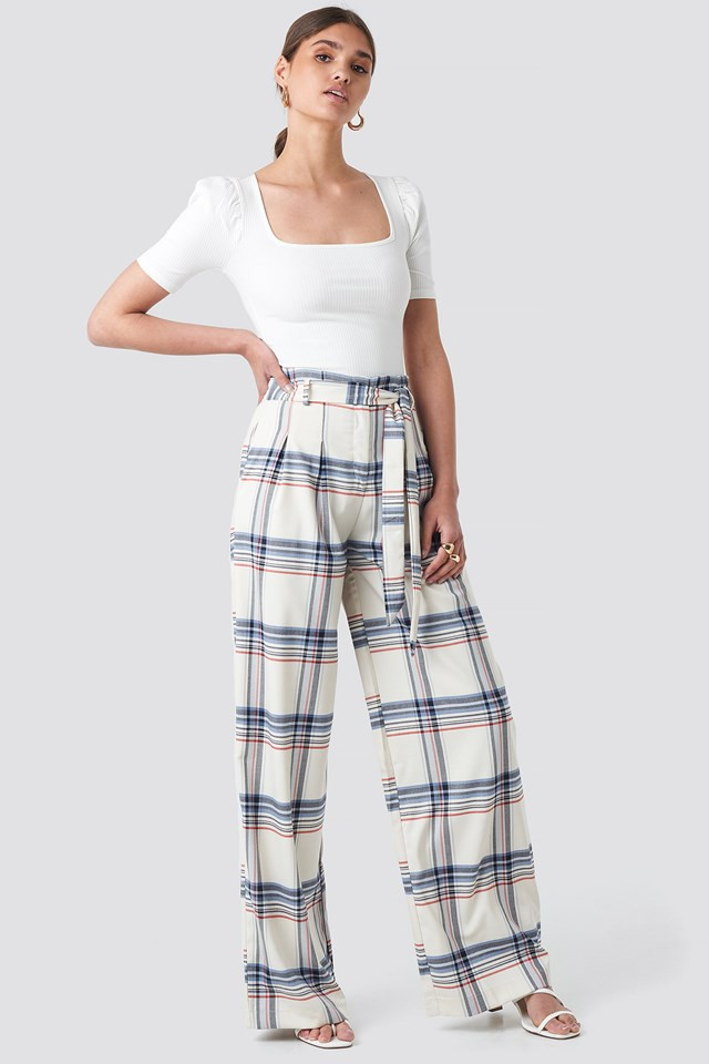 Checkered Plaid Trousers Trendyol