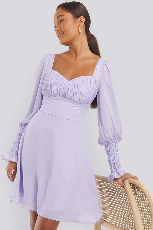 Drape Detailed Dress Lila