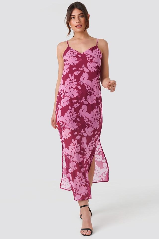 Wos Flower Patterned Dress Purple