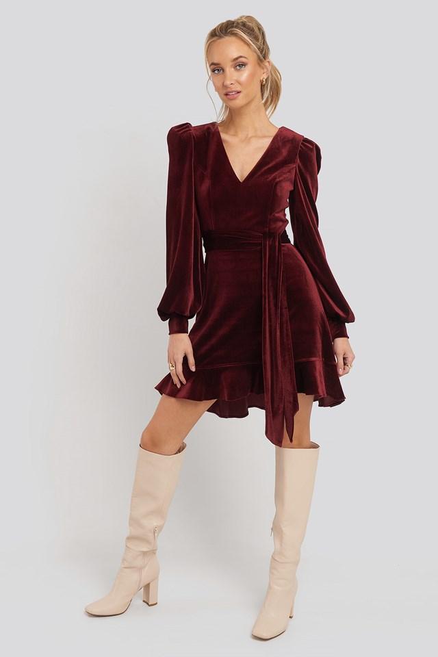 Flywheel Dress Burgundy
