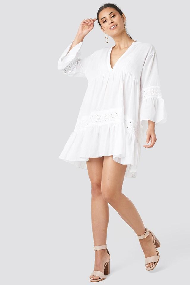 Guipure Detail Dress Trendyol