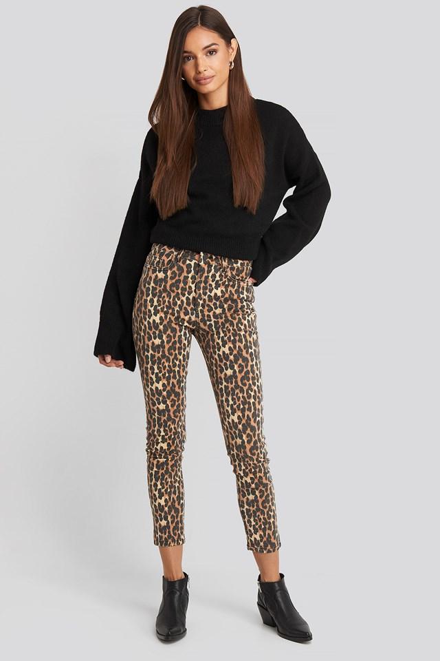High Belly Skinny Jeans Black
