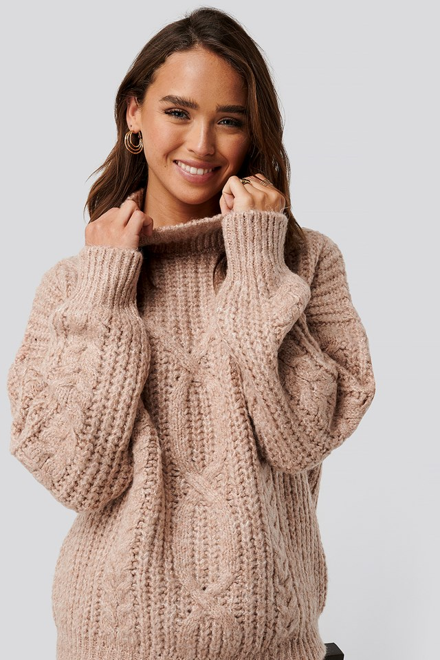 High Neck Knitted Sweater Trendyol