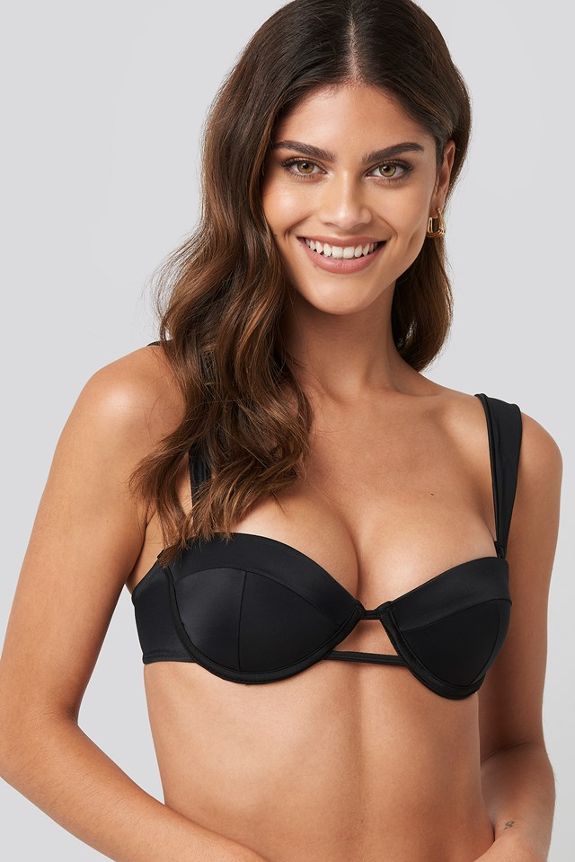 Interconnected Bikini Top Black