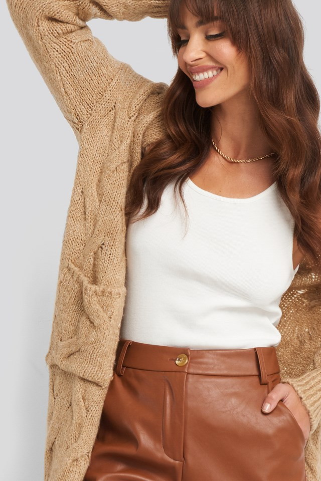 Long Knitted Cardigan Trendyol