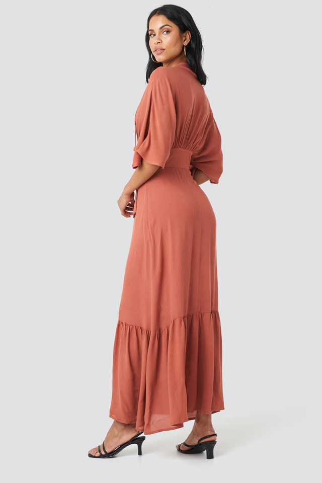 Milla Long Dress Cinnamon