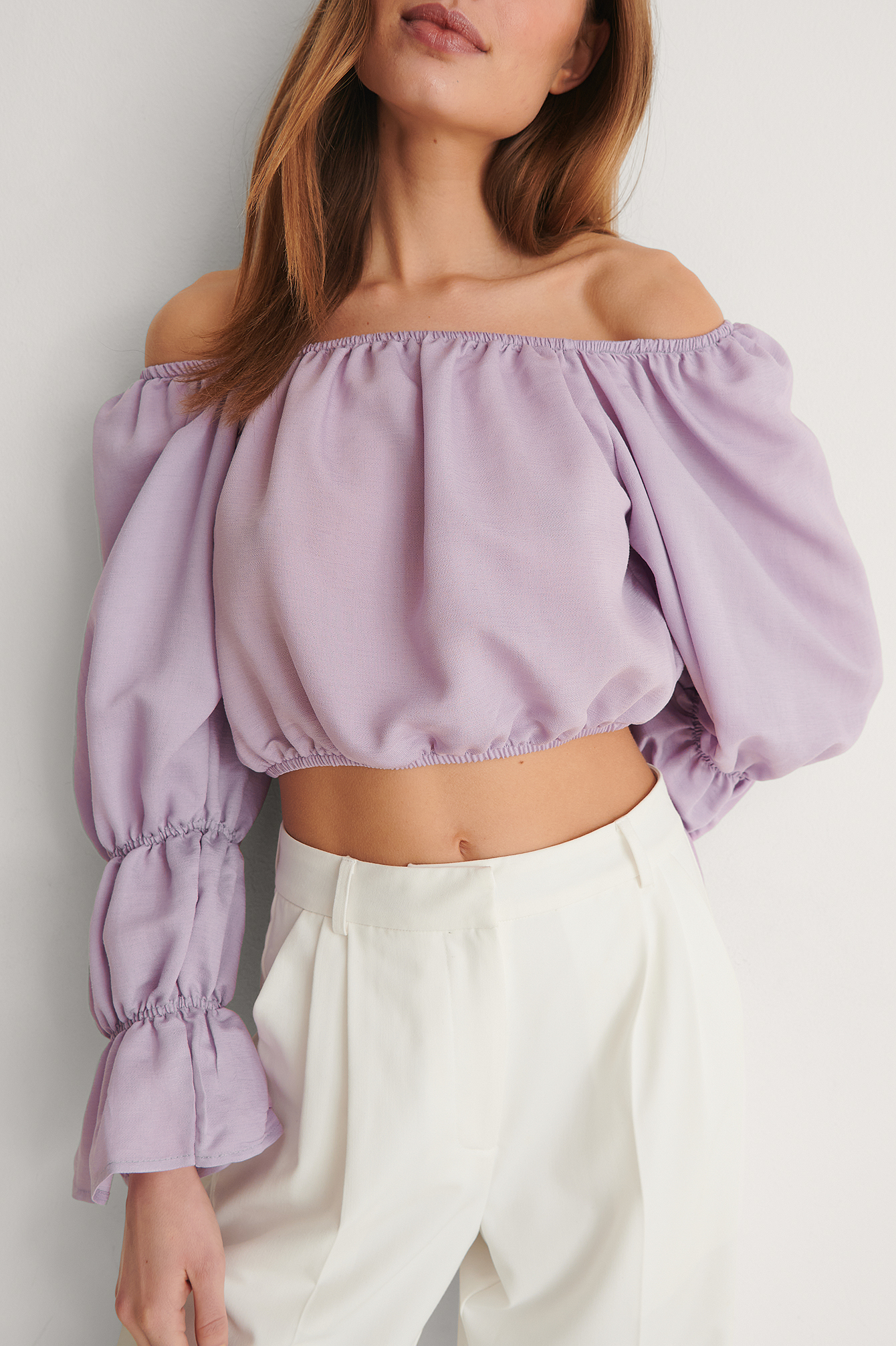 Lilac Off Shoulder Blouse