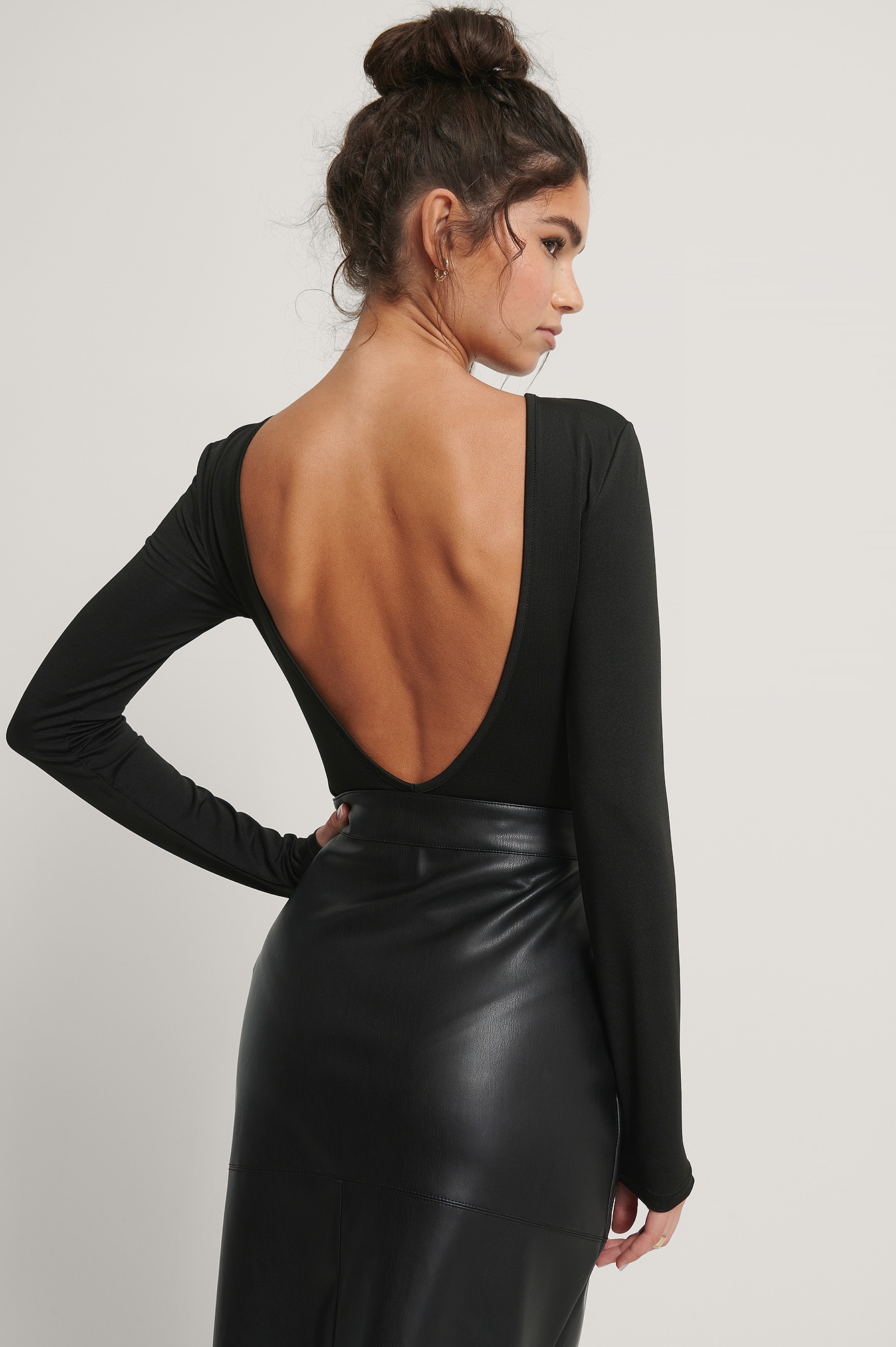 Black Open Back Body