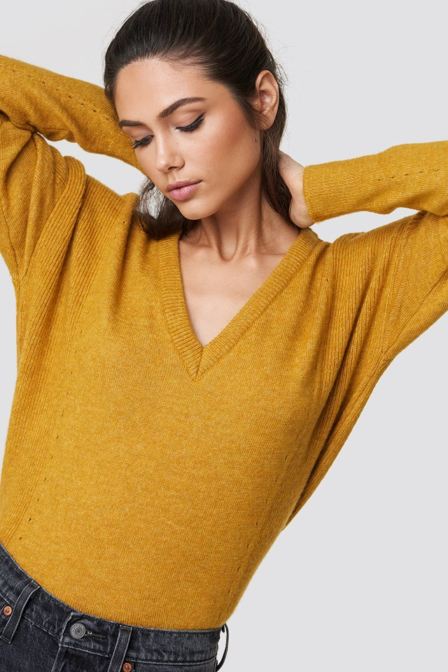 Punched Knitted Sweater Trendyol