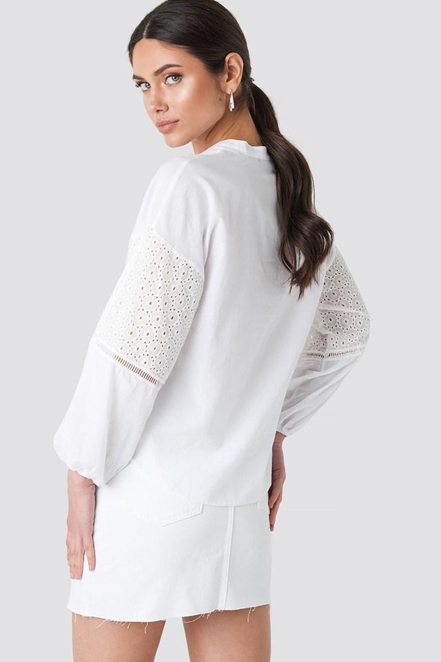 Sleeve Detailed Shirt Ecru