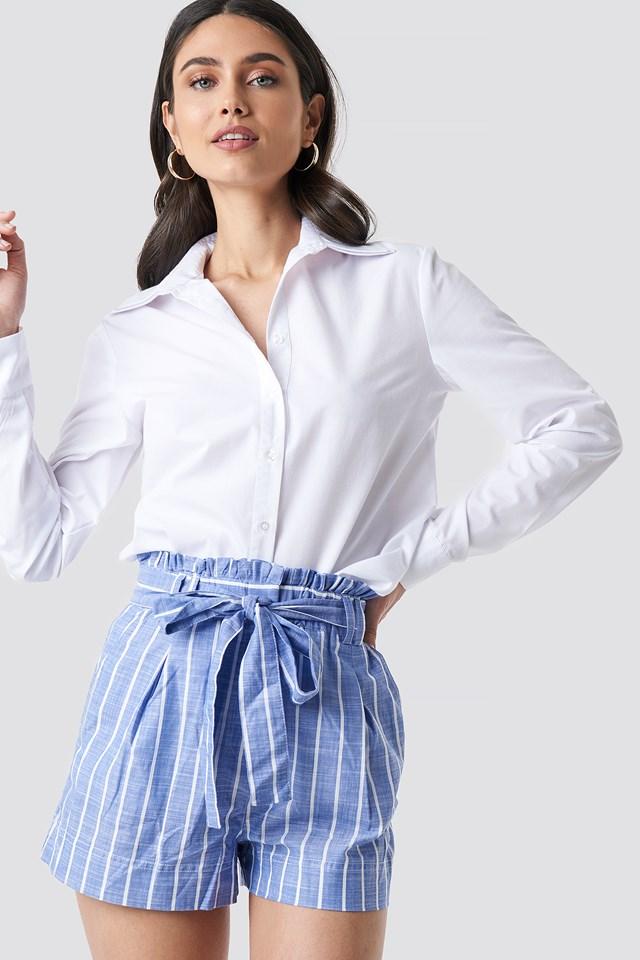 Striped Belt Shorts Trendyol