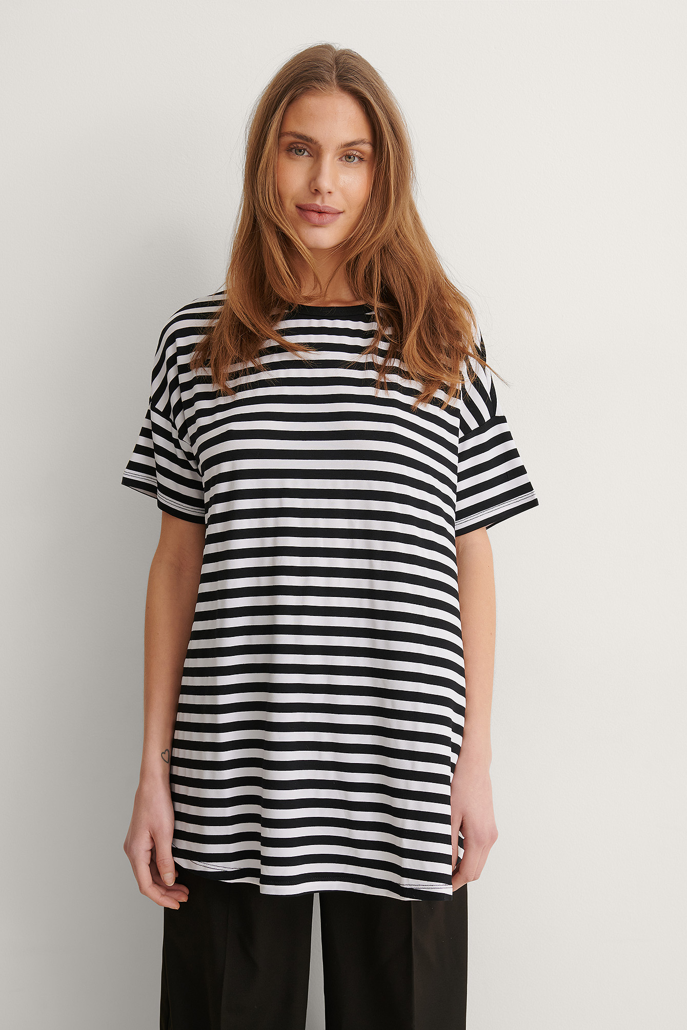 Black Striped Long Tee