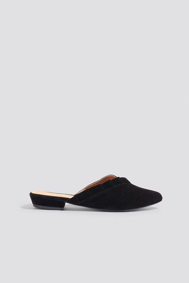 Suede Slippers Black