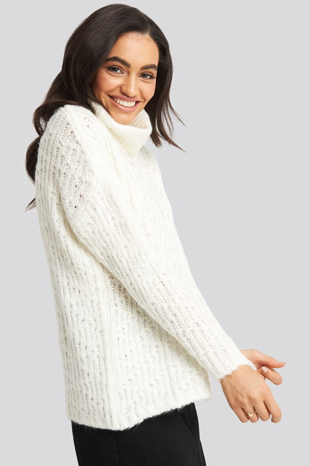 Turtleneck Knitted Sweater Trendyol