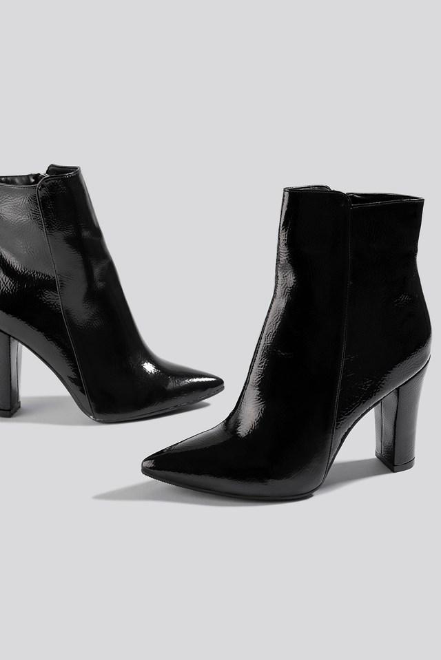 Women High Heel Boots Black