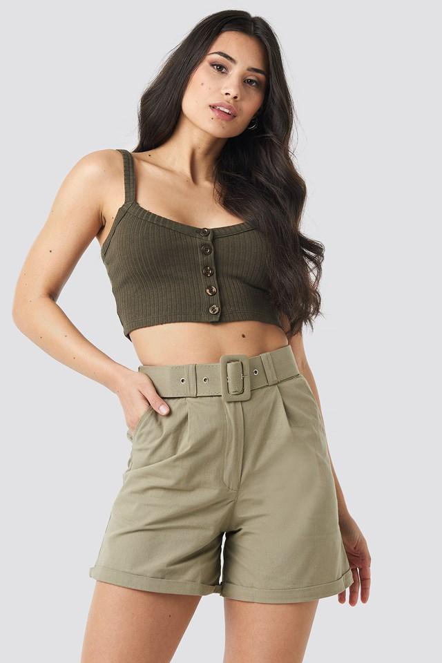 Yol Belt Detailed Shorts Trendyol