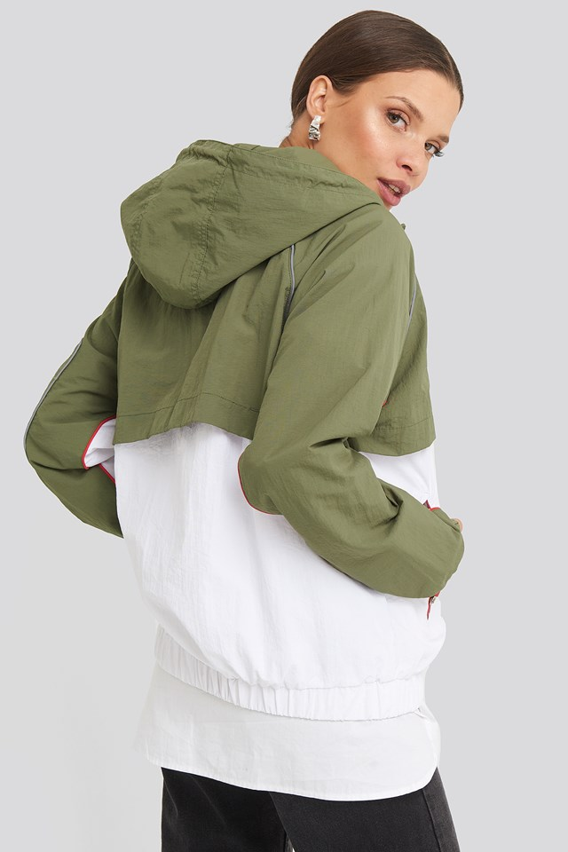 Ummi Windbreaker Deep Lichen Green/Bright White