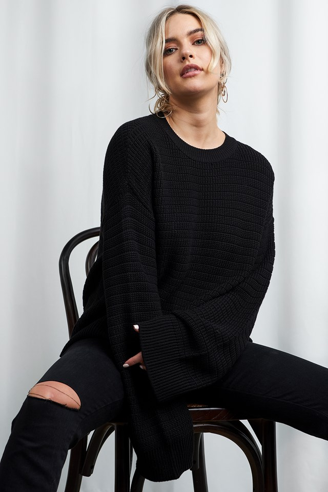 Laurette Oversize Sweater Black