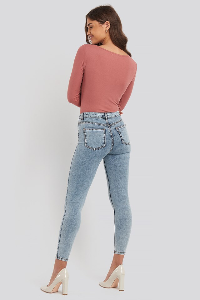Yol High Waist Jeans Blue
