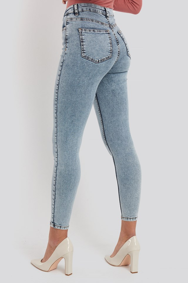 Yol High Waist Jeans Blue