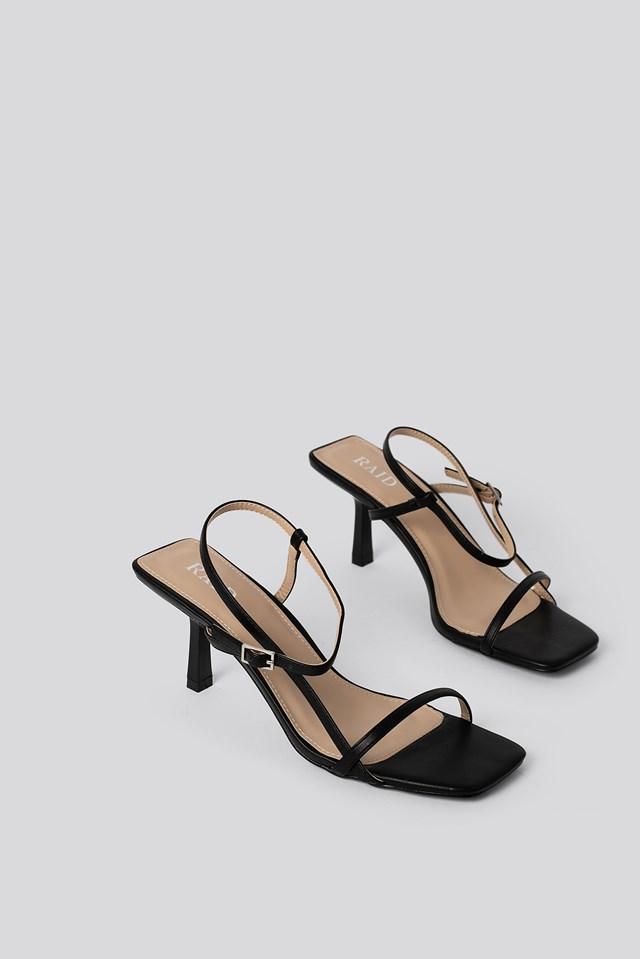 Lavina Strap Sandal Black PU