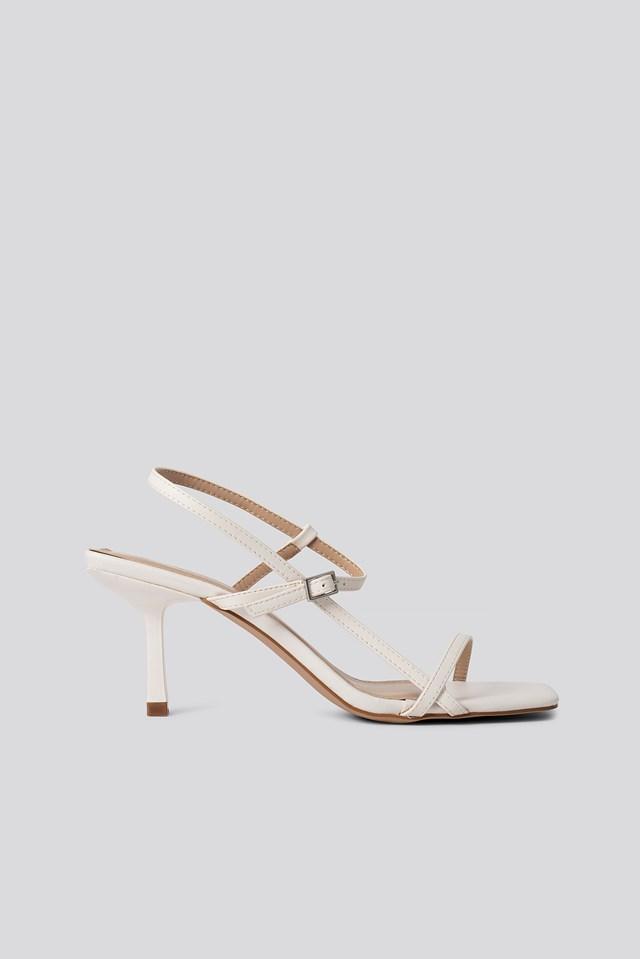 Lavina Strap Sandal White PU