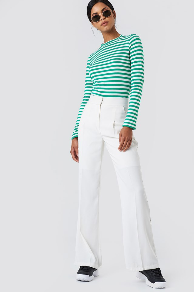Striped Shirt & White Throuses