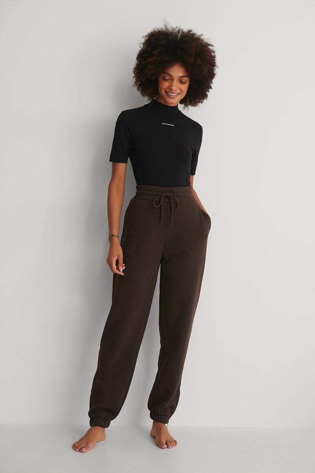 Calvin Klein Micro Branding Stretch Mock Neck Outfit!