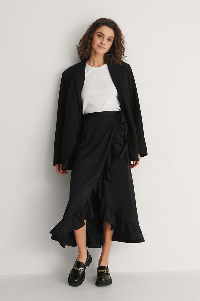 Frill Overlap Skirt