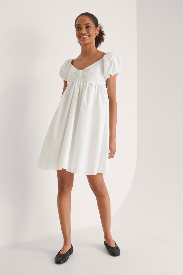 Off Shoulder Mini Cotton Dress