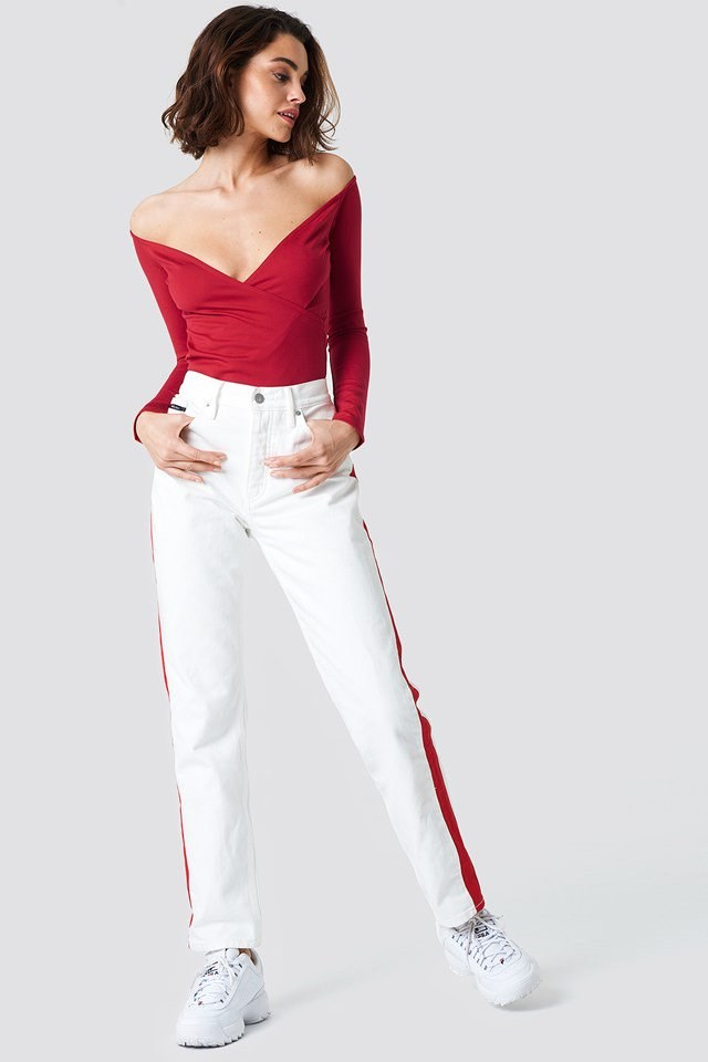 Two-Toned Pants Outfit