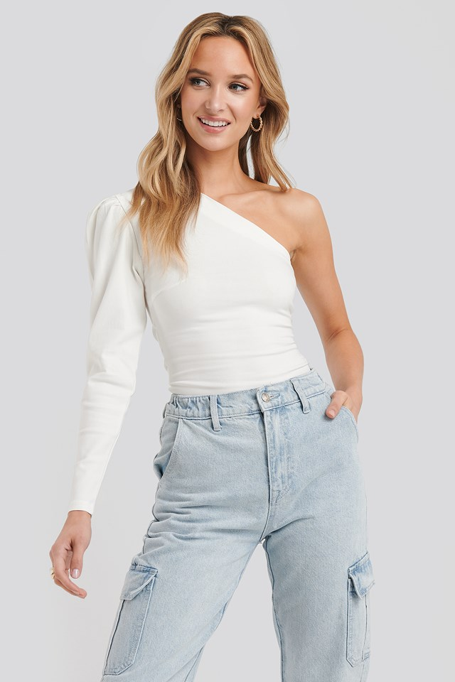 Nelson One-Shoulder Top White