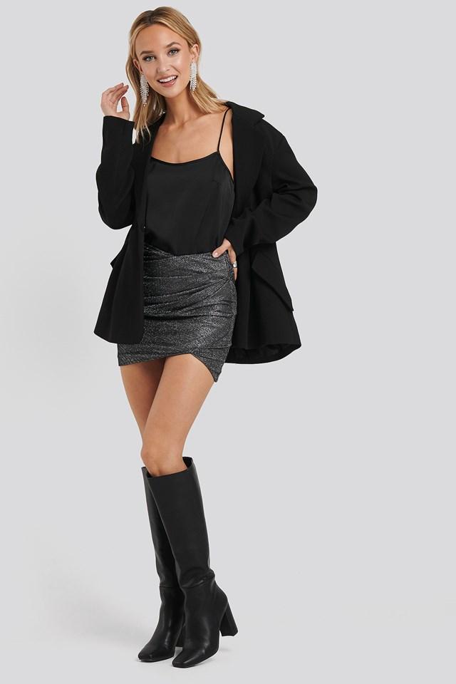 Shine Bright Skirt Black