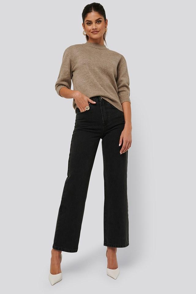 Loose Fit Jeans Black Wash