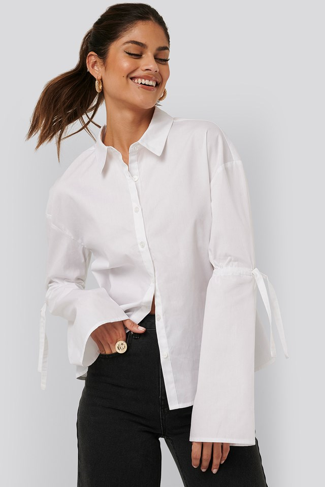 Tied Arms Shirt White