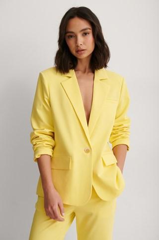 Yellow Straight Fit Blazer