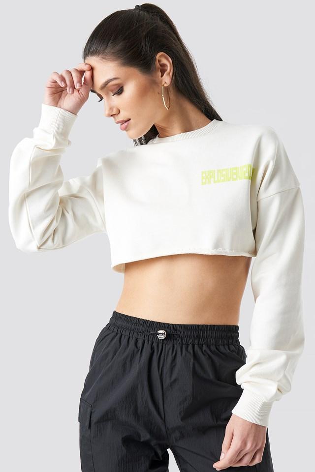 Explosive Raw Cropped Sweater Anna Nooshin x NA-KD