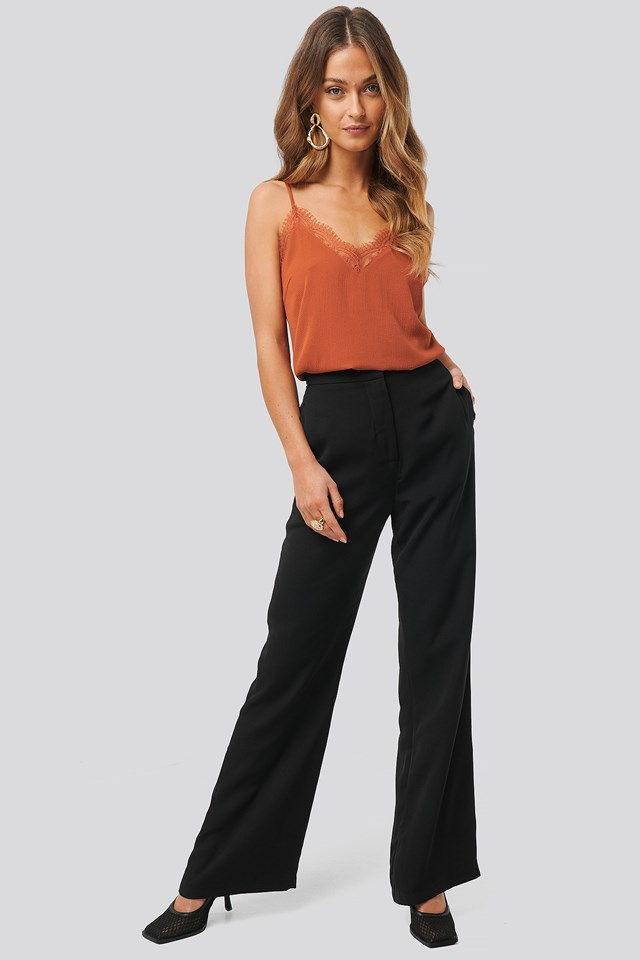 Highwaist Wide Leg Pants Black