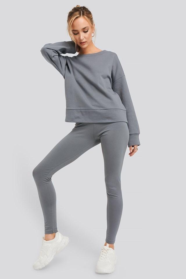 Basic Highwaist Leggings Dark Grey