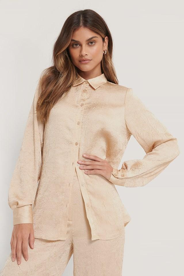Crinkled Shirt Beige