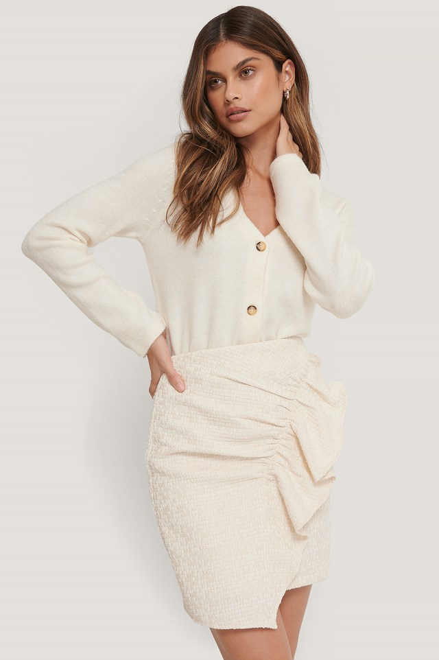 Buttoned Cardigan Off White